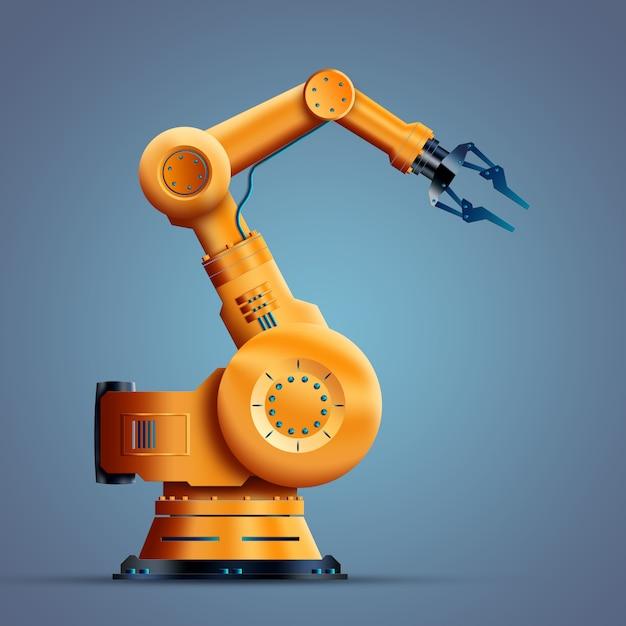 Robotisation, travailleur, robot Photo Premium