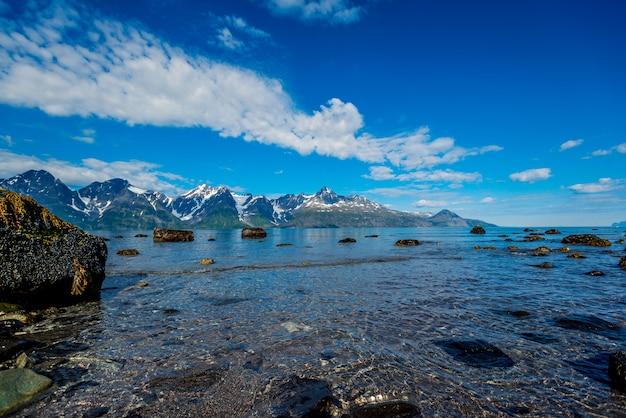 Roches du sognefjord, troisième plus grand fjord du monde et plus grand de norvège. Photo Premium