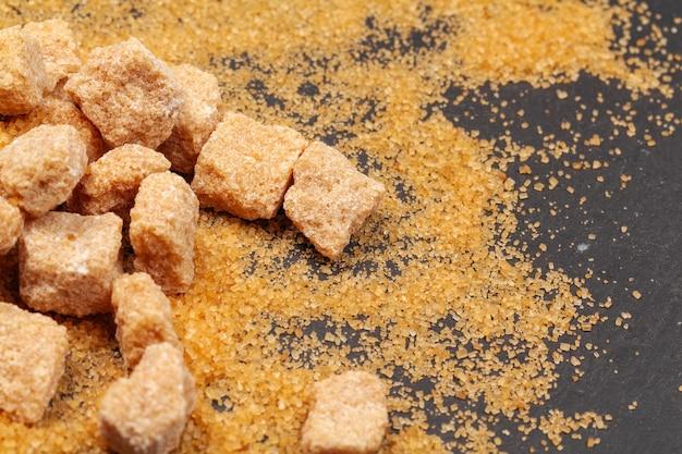 Rock Sugar Sur Dark Close Up Photo Premium