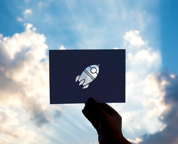 Rocket launch start succès présentez Photo gratuit