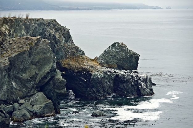 Rocky coastal cliffs Photo gratuit