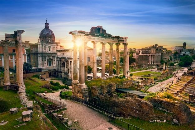 Rome Ville Bu Sunrise Italie Photo Premium