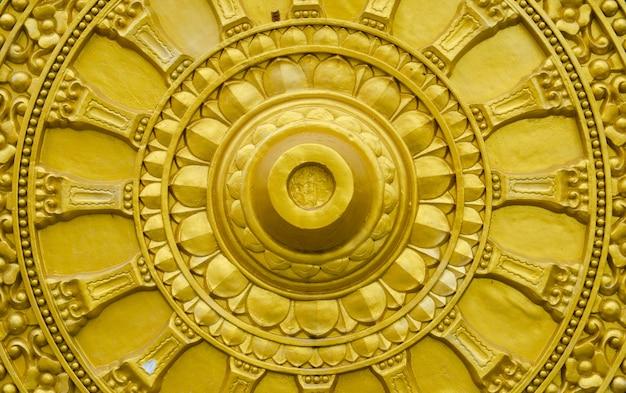 Roue d'or du dhamma Photo Premium