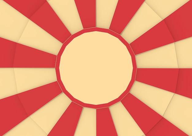 Rouge et vanille couleur de cirque dans le fond de style sunburst. Photo Premium