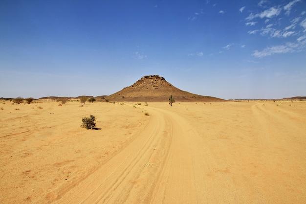 La Route Dans Le Désert Du Sahara Photo Premium