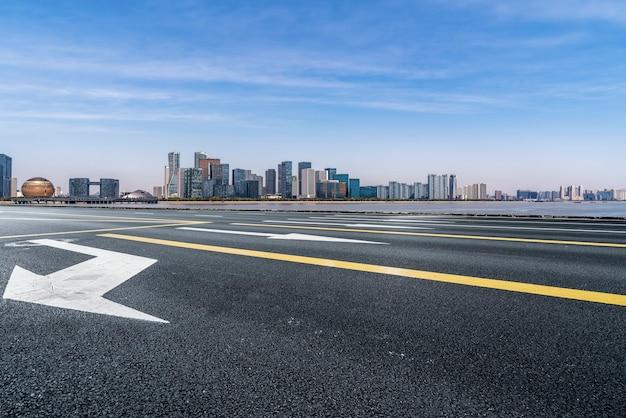 Routes Et Paysage Architectural Des Villes Chinoises Modernes Photo Premium