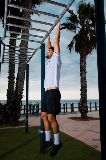 Routine d'entraînement style de vie en bonne santé Photo gratuit