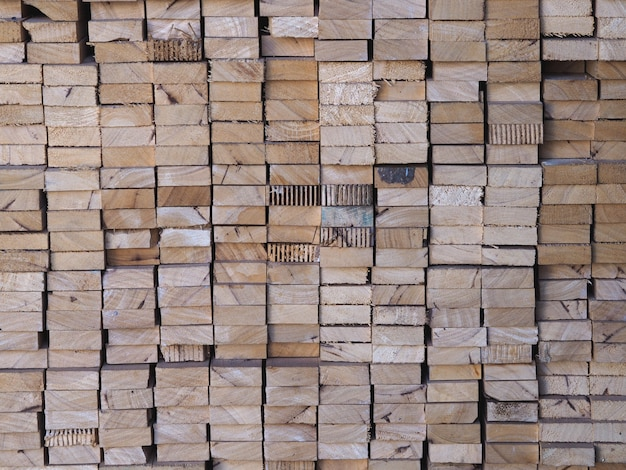 Row wood abstract texture Photo Premium