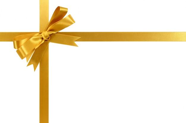 Ruban Cadeau Or Et Arc Photo gratuit