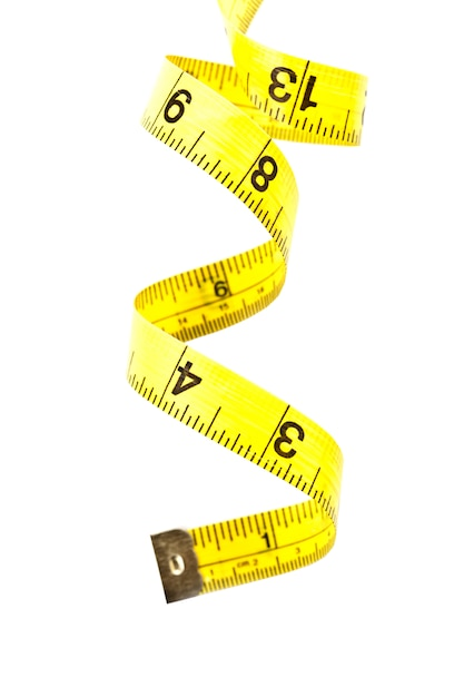Ruban à mesurer jaune Photo Premium