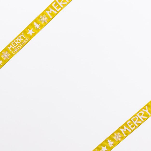 Rubans jaunes pour noël Photo gratuit