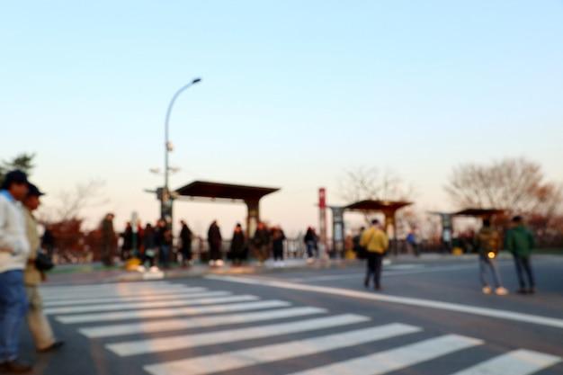 Rue Floue En Corée Du Sud Photo Premium