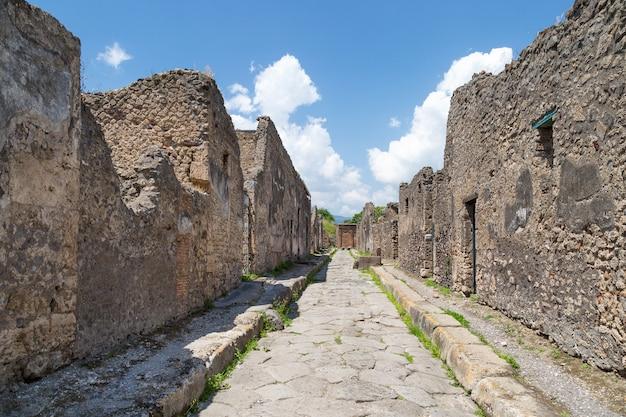 Ruines De L'ancienne Ville Romaine De Pompéi, Province De Naples, Campanie, Italie. Photo Premium