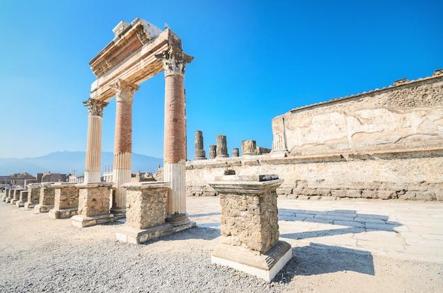 Ruines Antiques De Pompéi, Italie Photo Premium