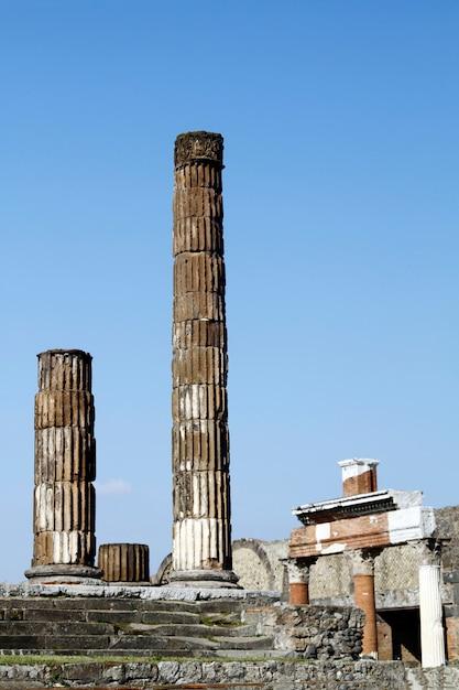 Ruines archéologiques de pompéi Photo Premium