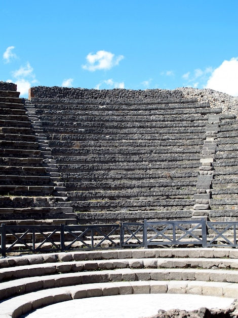 Ruines Romaines Antiques à Pompéi, Italie Photo Premium