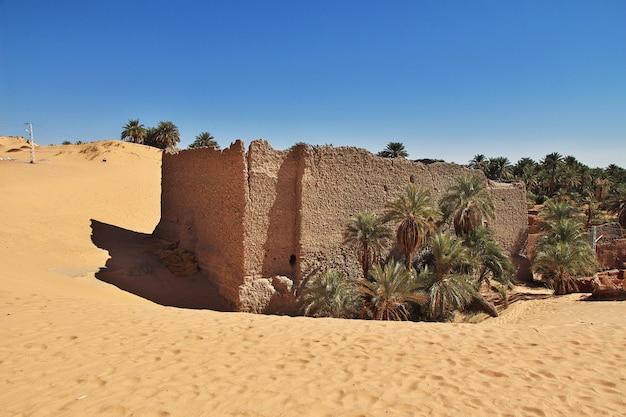 Ruines De La Ville Abandonnée De Timimun Dans Le Désert Du Sahara, Algérie Photo Premium