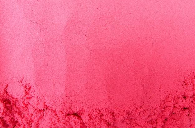 Sables Rouges Dans Le Bac. Texture De Fond Photo Premium