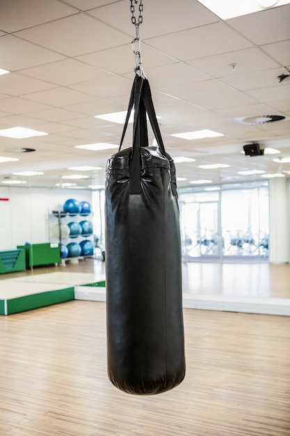 Sac de boxe en studio Photo Premium