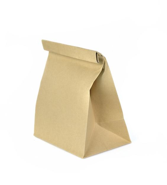 Sac en papier isolé sur fond blanc Photo Premium