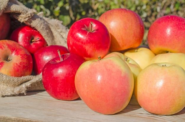 Sac De Pommes Photo Premium