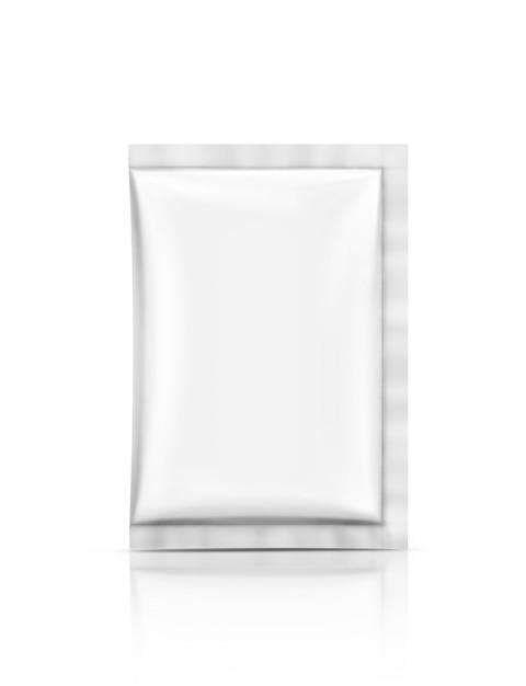 Sachet de feuille d'emballage vide isolé Photo Premium