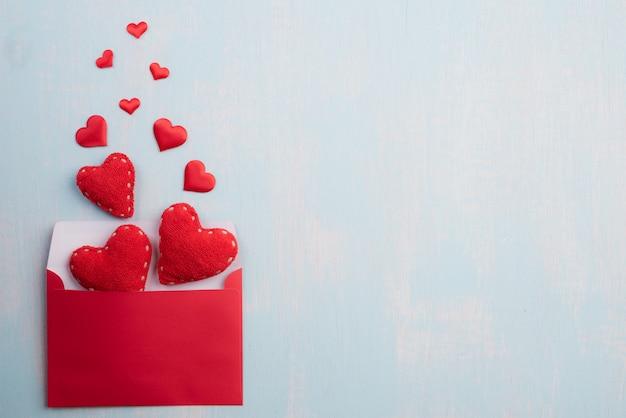 Saint valentin et fond de concept d'amour. Photo Premium