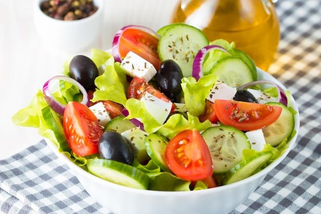 Salade grecque Photo Premium