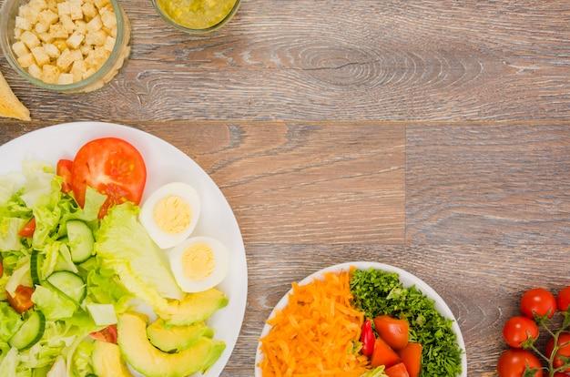 Salade de laitue délicieuse et saine Photo gratuit
