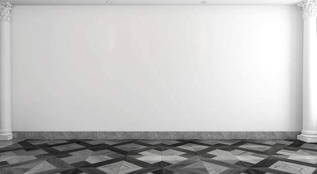 Salle blanche vide de style classique Photo Premium