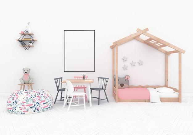 Salle de jeux scandinave à structure verticale Photo Premium