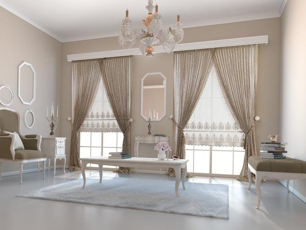 Salon avec décoration Photo Premium