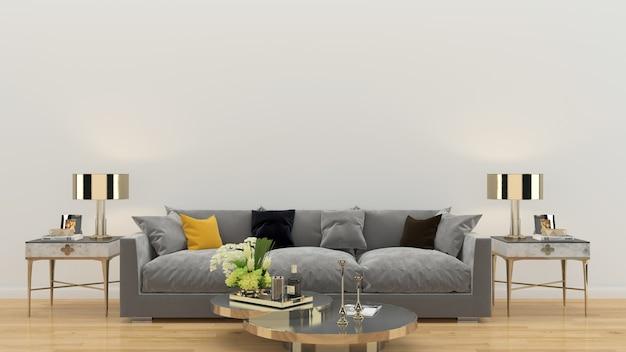 Salon intérieur maison modèle fond Photo Premium