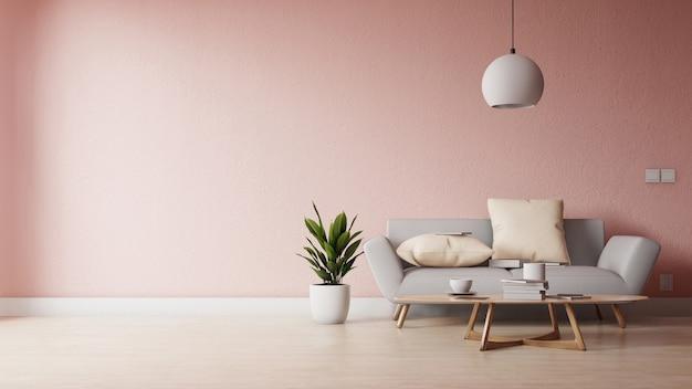 Salon Moderne Avec Canape Blanc Meuble Et Etageres En Bois