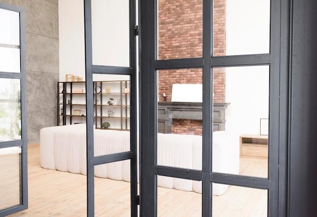 Salon moderne et élégant avec cheminée | Télécharger des ...