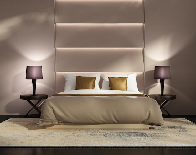 Salon moderne avec système mural contemporain Photo Premium