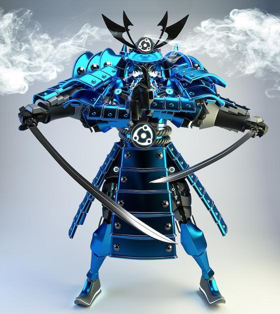 Samurai Robot Guerrier Photo Premium