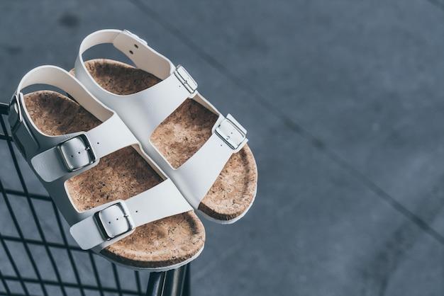 Sandales en cuir pour hommes Photo Premium