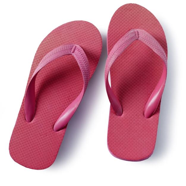 Sandales De Plage Flipflops Rouges Isolés Sur Fond Blanc Photo gratuit