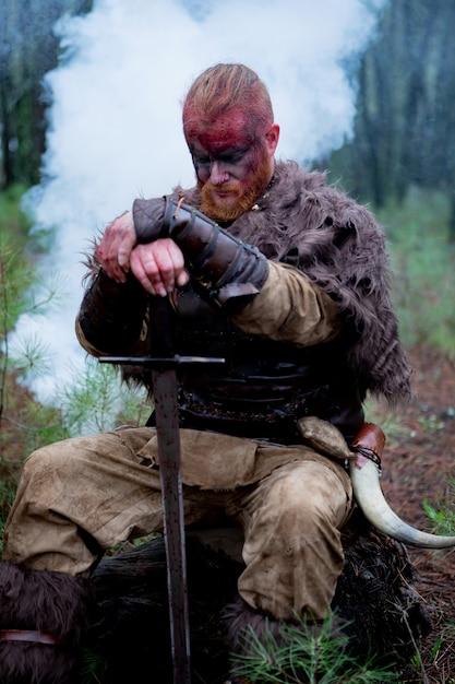 Sanglant vrai viking Photo Premium