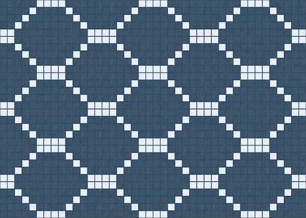 Sans soudure petit bleu parmi les dalles de bois blanc modèle design mur de fond. Photo Premium