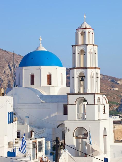 Santorini, pyrgos, eglise de theotokaki Photo Premium