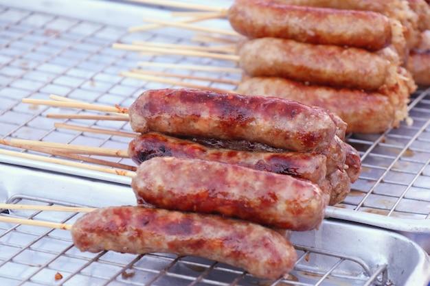 Saucisses bbq Photo Premium