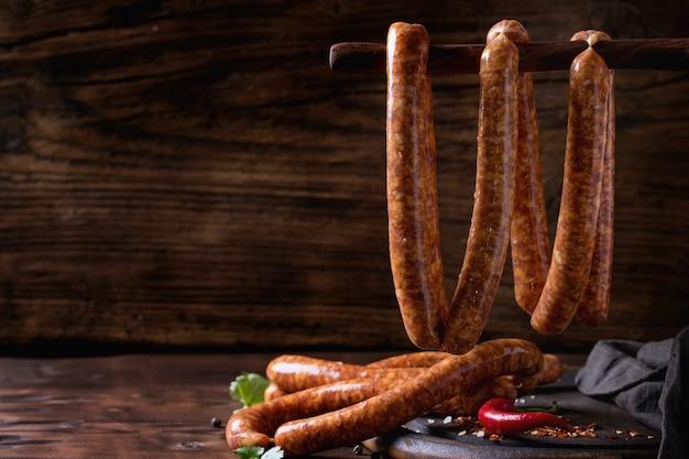 Saucisses Crues Pour Bbq Photo Premium