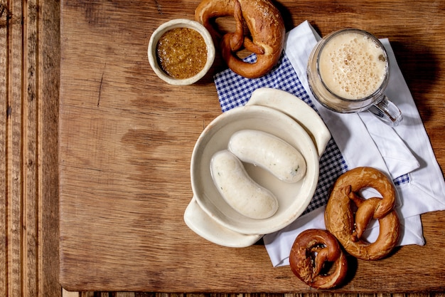 Saucisses Traditionnelles Bavaroises Photo Premium