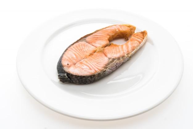 Saumon steak frit Photo gratuit