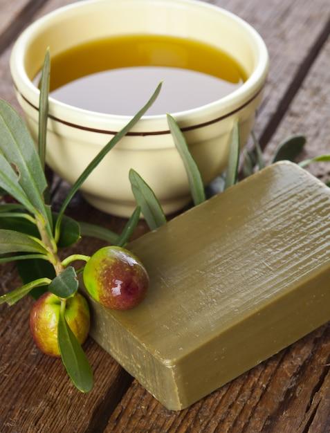 Savon D'alep Et Olives Photo Premium