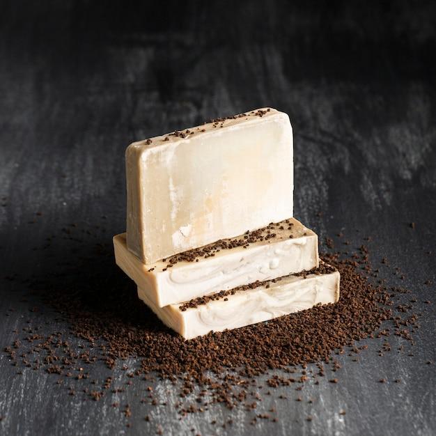 Savon de café en poudre Photo gratuit
