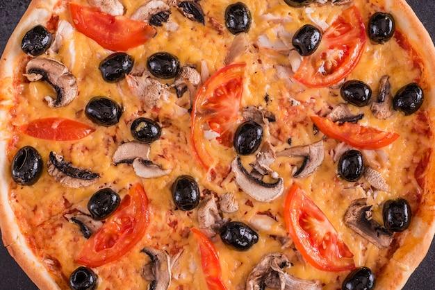 Savoureuse pizza chaude Photo Premium