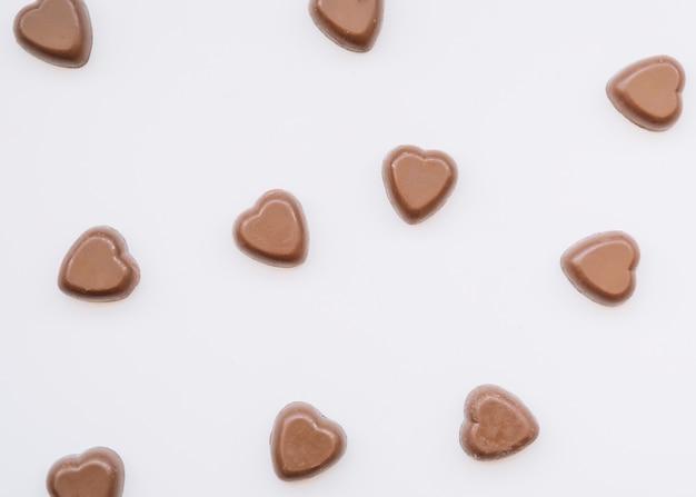 Savoureux coeurs au chocolat Photo gratuit